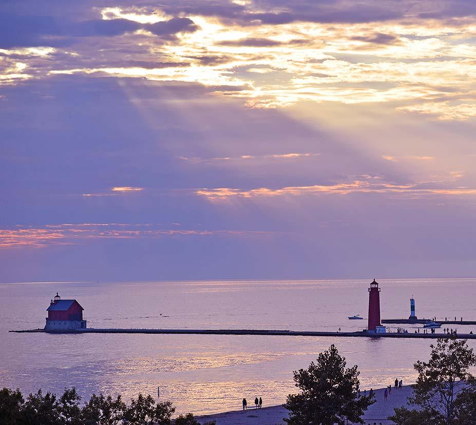 Grand Haven Michigan lighthouse pier