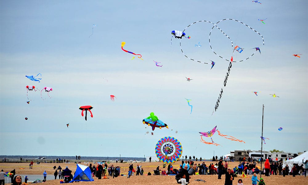 Grand Haven Kite Festival on Grand Haven State Park Beach