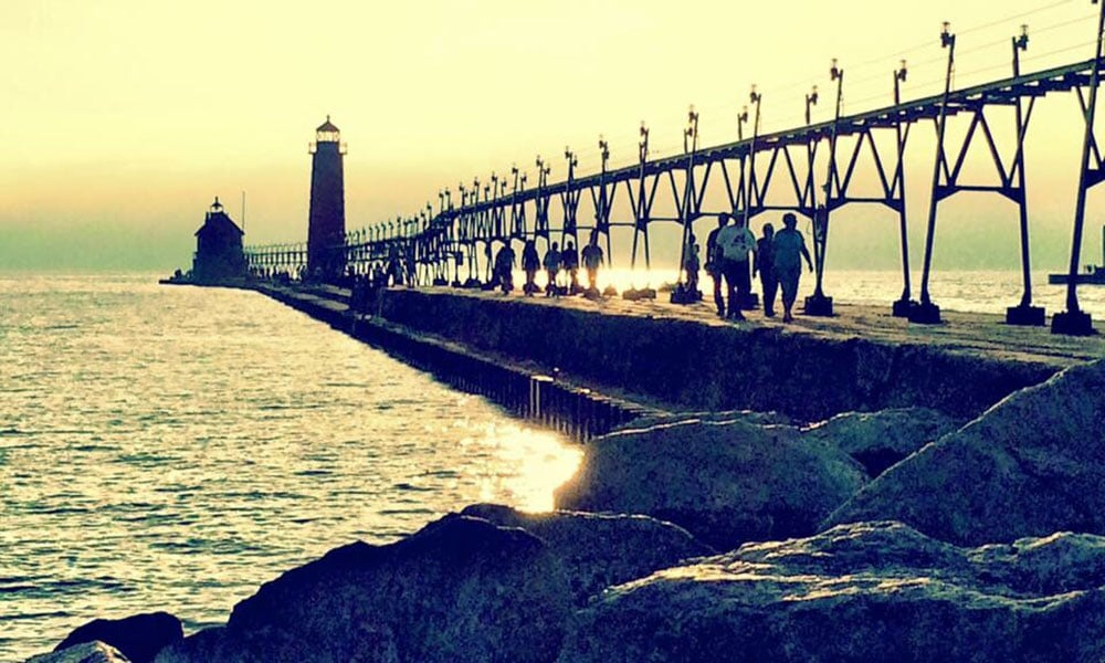 Grand Haven light house pier